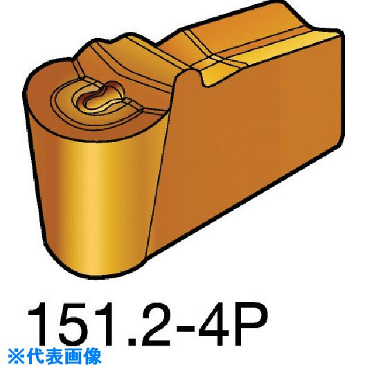 ■サンドビック T-MAX Q-カット 突切り・溝入れチップ 1005 1005 10個入 〔品番:N151.2-600-50-4P〕取寄[TR-5725089×10]