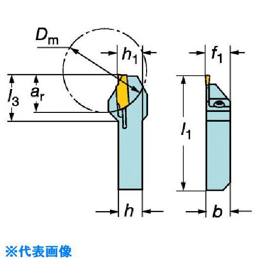■サンドビック QSホールディングシステム コロカット1・2用突切り・溝入れバイト〔品番:QS-RF123D10-1010B〕[TR-5734037]