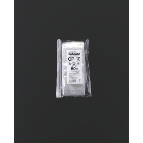 ■セイニチ チャック袋 「ラミグリップ」 OP-10 スタンドタイプ 160×10  〔品番:OP-10〕[TR-5843448]