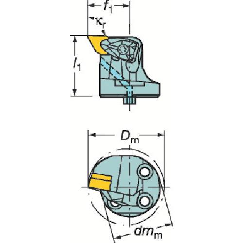 ■サンドビック コロターンSL コロターンRC用カッティングヘッド〔品番:570-DDUNR-40-15X〕[TR-6012973]