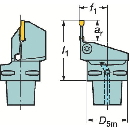■サンドビック コロマントキャプト コロカット1・2用カッティングユニット〔品番:C4-RF123D08-27050B〕[TR-6048587]