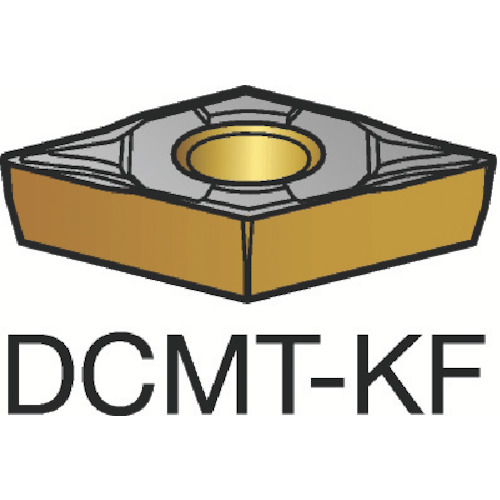■サンドビック コロターン107 旋削用ポジ・チップ H13A《10個入》〔品番:DCMT〕[TR-6050786]