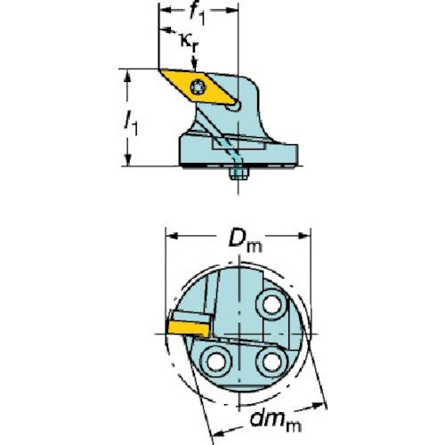 ■サンドビック コロターンSL コロターン107用カッティングヘッド〔品番:570-SVPBR-40-16-L〕[TR-6088899]