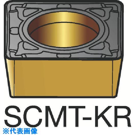 ■サンドビック コロターン107 旋削用ポジ・チップ H13A H13A 10個入 〔品番:SCMT〕[TR-6150691×10]