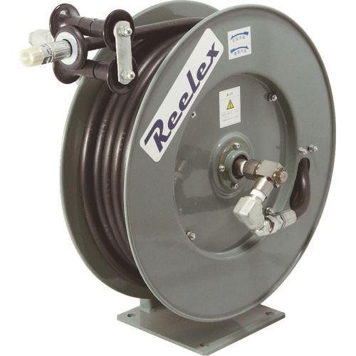 ■REELEX 高圧温水用ホースリール 14MPA 内径9.5MM×10M  〔品番:ORP-910FY140〕[TR-7220618]【大型・重量物・個人宅配送不可】