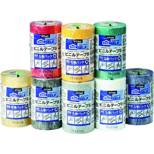 ■ニトムズ ビニルテープS 19X10 5巻パック 灰 40Pk入 〔品番:J2596〕[TR-7307845×40]