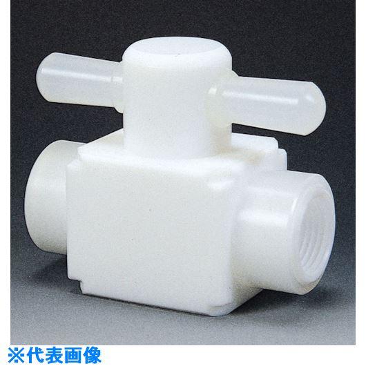 ■フロンケミカル フッ素樹脂(PTFE)メス二方バルブ圧入型 RC3/8  〔品番:NR0006-002〕[TR-7344139]
