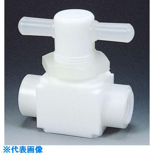 ■フロンケミカル フッ素樹脂(PTFE)メス二方パネル付バルブ圧入型 RC1/2  〔品番:NR0010-003〕[TR-7344309]