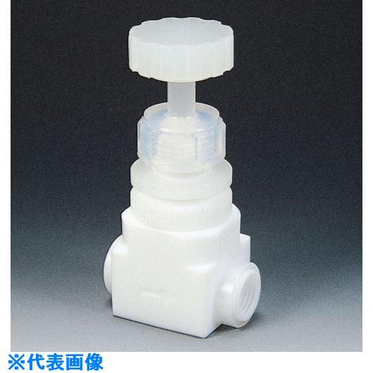 ■フロンケミカル フッ素樹脂(PTFE)ダイアフラムバルブメス水平型 RC1/4  〔品番:NR0013-001〕[TR-7344406]