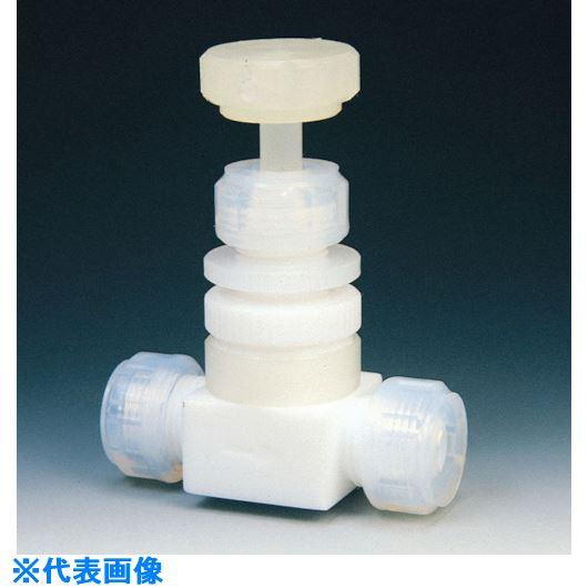■フロンケミカル フッ素樹脂(PTFE)ダイアフラムバルブ 10Φ  〔品番:NR0014-003〕[TR-7344457]