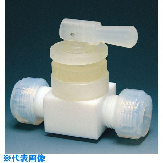■フロンケミカル フッ素樹脂(PTFE)トグルバルブ水平型 10Φ  〔品番:NR0015-003〕[TR-7344490]
