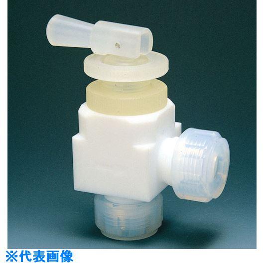 ■フロンケミカル フッ素樹脂(PTFE)トグルバルブアングル型 8Φ  〔品番:NR0016-002〕[TR-7344520]