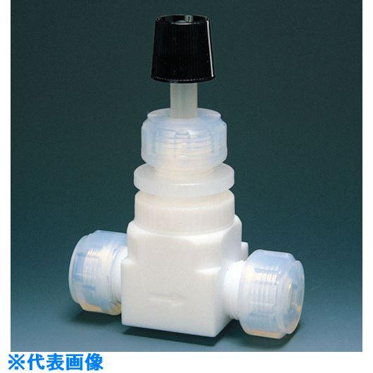 ■フロンケミカル フッ素樹脂(PTFE)ニードルバルブI型 8Φ  〔品番:NR0018-002〕[TR-7344601]