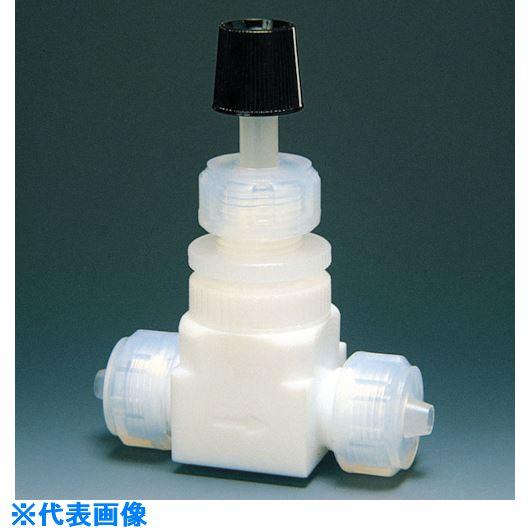 ■フロンケミカル フッ素樹脂(PTFE)高圧ニードルバルブI型 12Φ  〔品番:NR0020-004〕[TR-7344708]