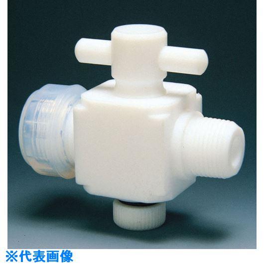 ■フロンケミカル フッ素樹脂(PTFE)二方バルブ装置用 6Φ R1/4  〔品番:NR0023-001〕[TR-7344783]