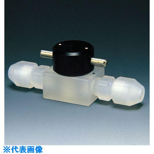 ■フロンケミカル フッ素樹脂(PCTFE) 二方バルブ 4Φ  〔品番:NR0033-003〕[TR-7345119]