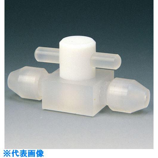 ■フロンケミカル フッ素樹脂(PCTFE) 高圧ミニ二方バルブ 3Φ  〔品番:NR0057-002〕[TR-7345712]