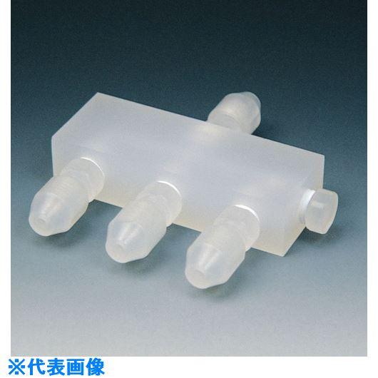 ■フロンケミカル フッ素樹脂(PCTFE)高圧ミニ分配ホルダー 一入三配3Φ×2Φ  〔品番:NR0070-002〕[TR-7346221]