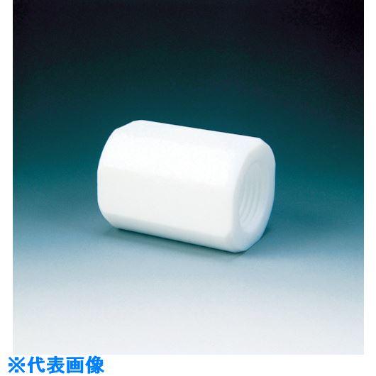 ■フロンケミカル フッ素樹脂(PTFE) カップリング RC1/2×RC1  〔品番:NR0088-006〕[TR-7347189]