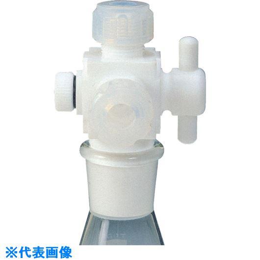 ■フロンケミカル フッ素樹脂 三方バルブ接続型アダプター 8Φ用×TS15/25  〔品番:NR0096-003〕[TR-7347359]