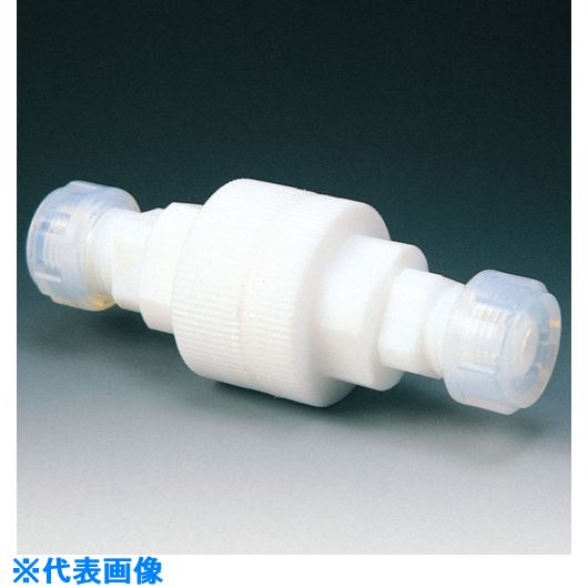 ■フロンケミカル フッ素樹脂(PTFE) 逆流防止バルブA型 10Φ  〔品番:NR0097-003〕[TR-7347430]