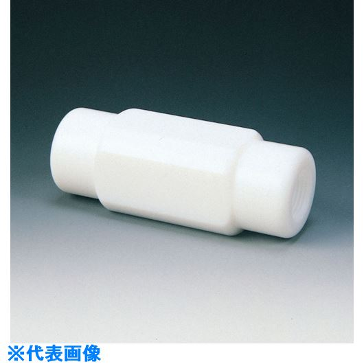 ■フロンケミカル フッ素樹脂(PTFE) チェックバルブA型 RC1/2〔品番:NR0098-003〕[TR-7347472]