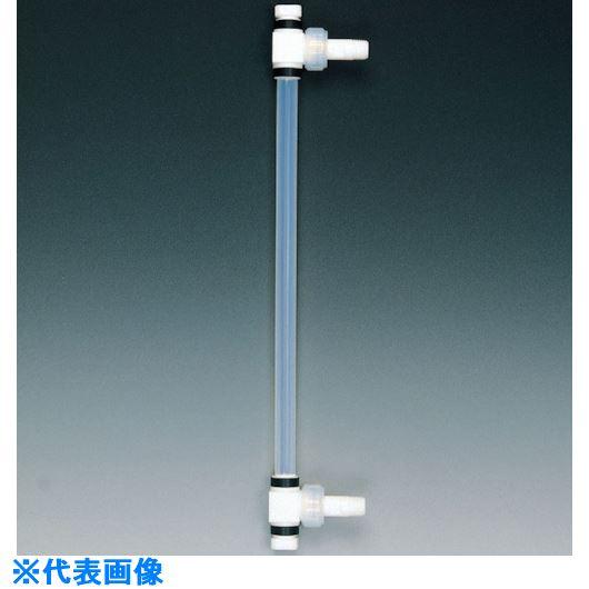 ■フロンケミカル フッ素樹脂 液面計A型タイプ R1×300mmP 18Φ×27Φ〔品番:NR0176-017〕[TR-7347740]
