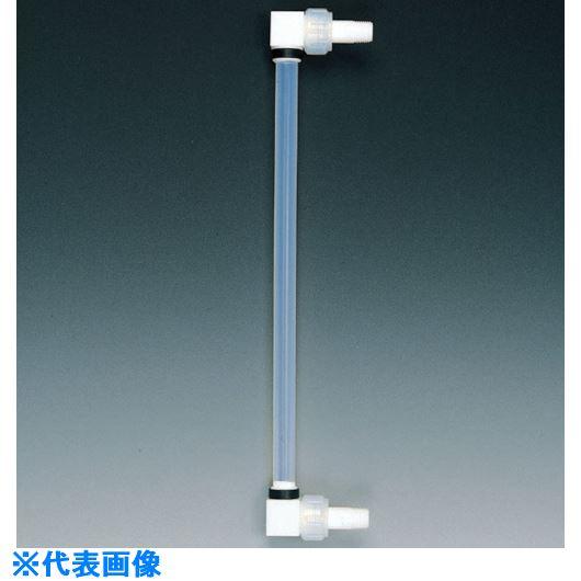 ■フロンケミカル フッ素樹脂 液面計B型タイプ R1×300mmP 18Φ×27Φ〔品番:NR0177-017〕[TR-7347944]