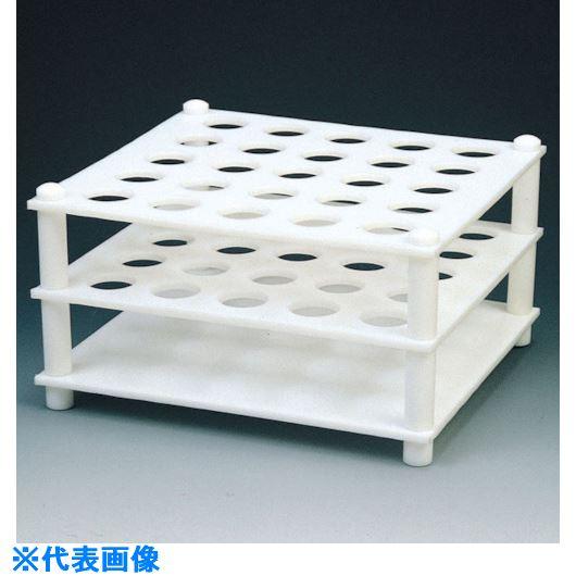 ■フロンケミカル フッ素樹脂(PTFE) 試験管立て台 23Φ×40〔品番:NR0220-004〕[TR-7348444]