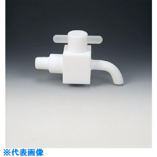 ■フロンケミカル フッ素樹脂(PTFE)ドレンコック R1/2〔品番:NR1001-003〕[TR-7349491]