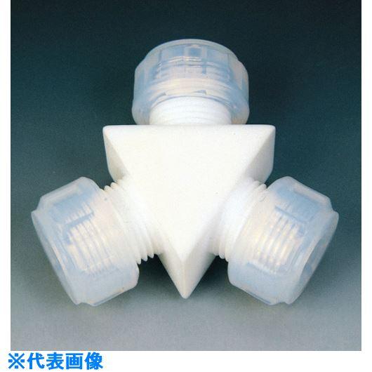 ■フロンケミカル フッ素樹脂 接続ジョイントY型 12Φ  〔品番:NR1002-004〕[TR-7349530]