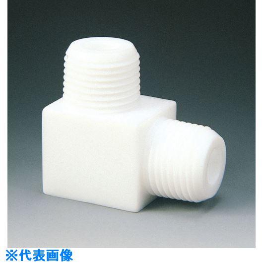 ■フロンケミカル フッ素樹脂(PTFE) エルボーニップル R3/4×3/4  〔品番:NR1011-009〕[TR-7350015]