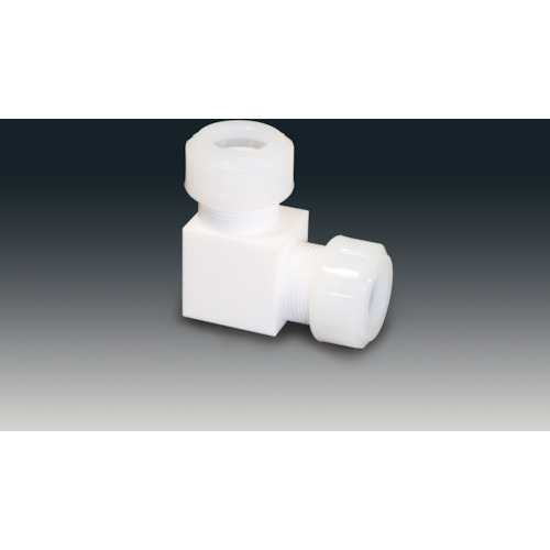 ■フロンケミカル PTFEスリーシール式L型ジョイント 10Φ  〔品番:NR1090-003〕[TR-7350651]