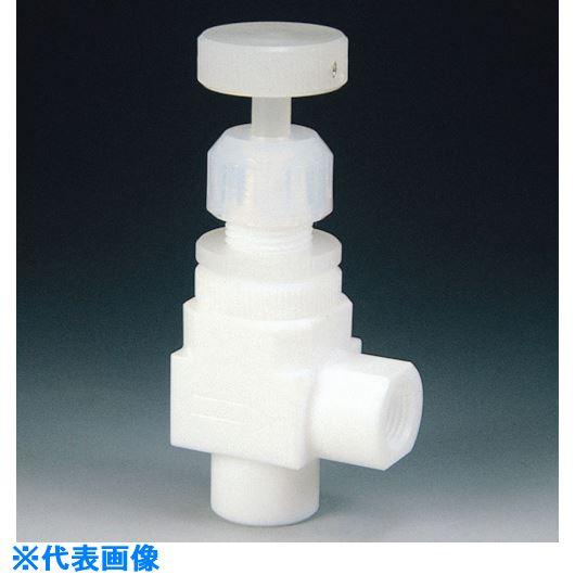 ■フロンケミカル フッ素樹脂(PTFE)ダイアフラムバルブメスアングル型RC1/4  〔品番:NR1208-001〕[TR-7351496]