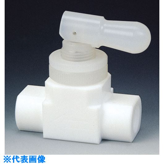■フロンケミカル フッ素樹脂(PTFE)トグルバルブメス水平型 RC1/2  〔品番:NR1209-003〕[TR-7351542]