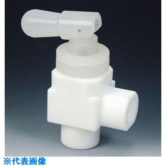 ■フロンケミカル フッ素樹脂(PTFE)トグルバルブメスアングル型 RC1/2  〔品番:NR1210-003〕[TR-7351577]