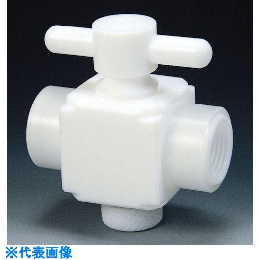 ■フロンケミカル フッ素樹脂(PTFE)二方バルブ両メスタイプ RC3/8  〔品番:NR1304-002〕[TR-7352999]