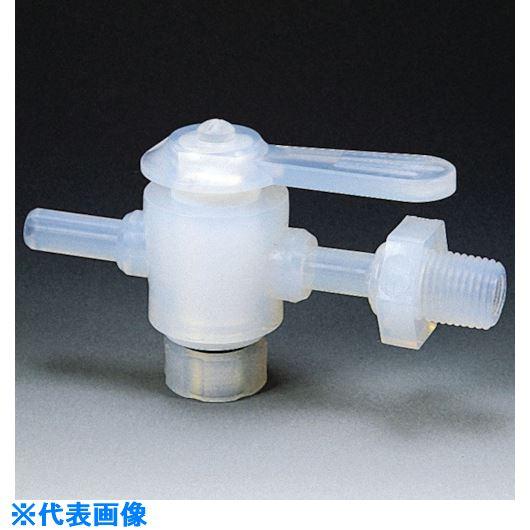 ■フロンケミカル フッ素樹脂(PFA)二方バルブ装置用 6パイ 接続ネジR1/4  〔品番:NR1305-001〕[TR-7353014]