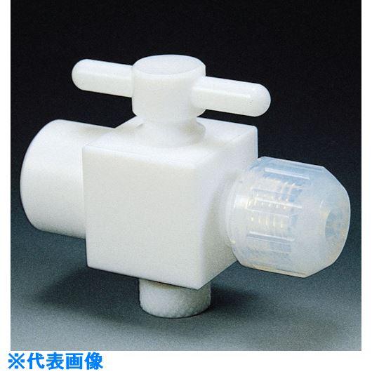 ■フロンケミカル フッ素樹脂(PTFE)二方バルブ装置用B型 12パイ  〔品番:NR1325-004〕[TR-7353278]