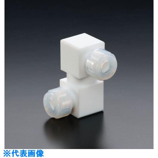 ■フロンケミカル フッ素樹脂フレキシブル接続ジョイント 1/4パイ×1/4パイ  〔品番:NR1650-011〕[TR-7353880]