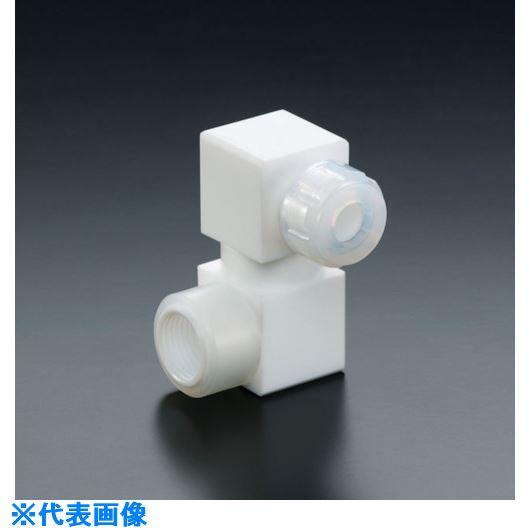 ■フロンケミカル フッ素樹脂フレキシブルハーフオスジョイント 8パイ×RC1/4  〔品番:NR1652-004〕[TR-7354126]