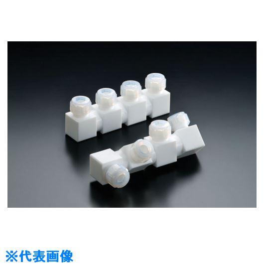 ■フロンケミカル フッ素樹脂フレキシブル多連ホルダー 三連式 10パイ  〔品番:NR1656-003〕[TR-7354461]