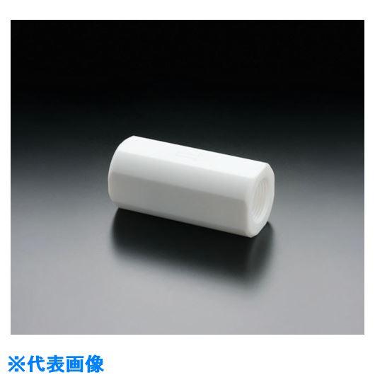 ■フロンケミカル フッ素樹脂(PTFE)チェックバルブ RP1/2平行メネジ〔品番:NR1666-003〕[TR-7355009]