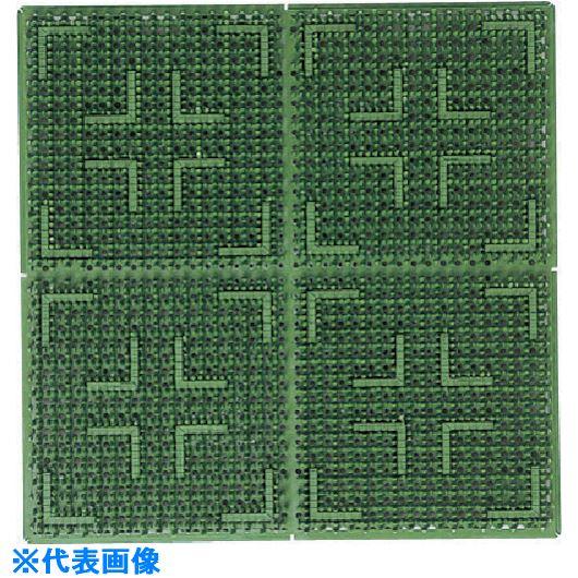 ■コンドル カット品(屋外用マット)クロスハードマット 別注(1平米あたり) 緑〔品番:F-112-OR〕[TR-7365071]