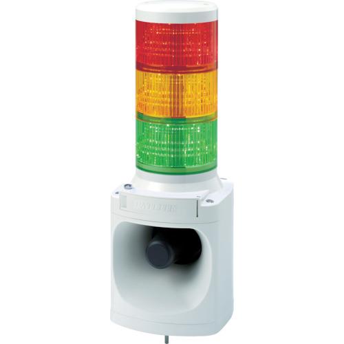 ?パトライト LED積層信号灯付き電子音報知器 色:赤・黄・緑 〔品番:LKEH-320FA-RYG〕[TR-7514701]