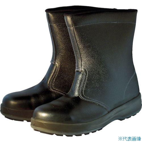 ■シモン 安全靴 半長靴 WS44黒 24.5cm〔品番:WS44BK-24.5〕[TR-7570864]
