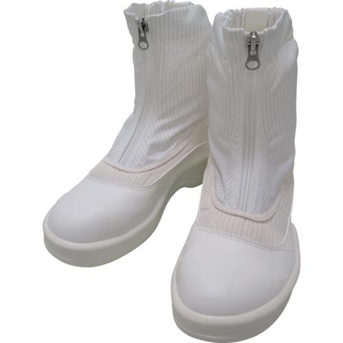 ■ゴールドウイン 静電安全靴セミロングブーツ ホワイト 25.5CM  〔品番:PA9875-W-25.5〕[TR-7591632]