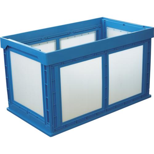 ■KUNIMORI プラスチック折畳みコンテナ パタコン N-180 ブルー〔品番:50210-N180-B〕[TR-7605366]【大型・重量物】