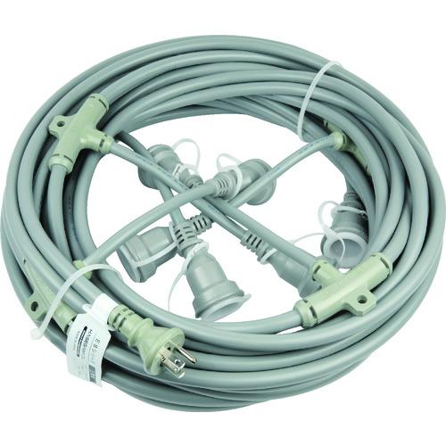 ■HASEGAWA 分岐ケーブル ESTCシリーズ 25m 防水コネクター〔品番:ESTC-25M-353-5〕[TR-7621159]