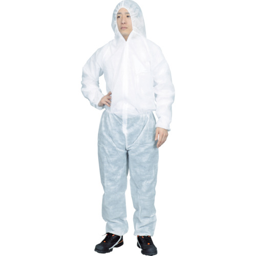 ■TRUSCO まとめ買い 保護服(1層タイプ) XXLサイズ  (50着入)〔品番:TPSB-XXL〕[TR-7630387]【大型・重量物】